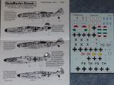 Messerschmitt Me 109 Decals Augsbug Eagles 2