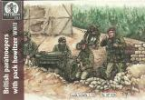 Pack Howitzer 75mm, WWII British Paratroopers with Pack Howitzer